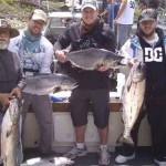 Wes and crew with some chinook salmon